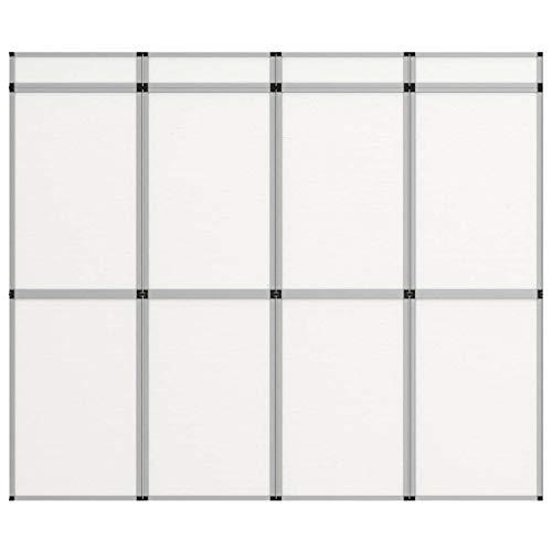 vidaXL 12-Panel Messewand Faltdisplay Stellwand Faltwand Messetafel Messestand Promotionswand klappbares Display Raumteiler 242×200 cm Weiß