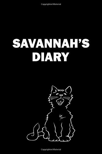 Savannah's diary: Journal for write your day with your name (6 x 9) inches 120 pages