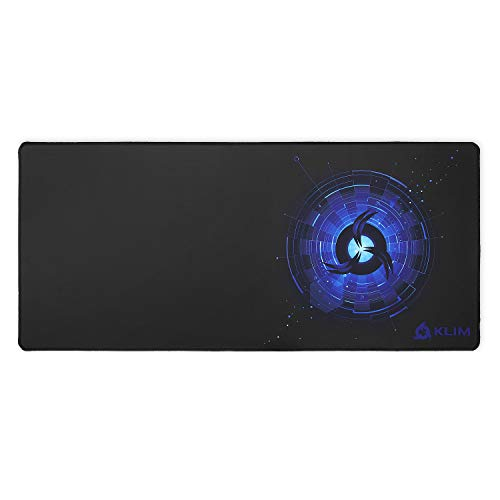 KLIM - Alfombrilla de ratón XL - Superficie Amplia - Alfombrilla de ratón Gaming Extra Grande - Base de Goma Antideslizante - Superficie con Textura de Alta precisión - 900 x 400 x 4 mm - Azul