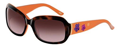 Loewe SLW778S6006E1 Gafas de sol, Orange/Shiny Havana, 60 para Mujer