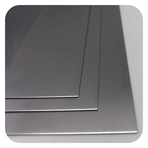 Edelstahlblech 3mm Edelstahl Platte V2A 1.4301 EINSEITIG FOLIE 3mm x 100mm x 200mm