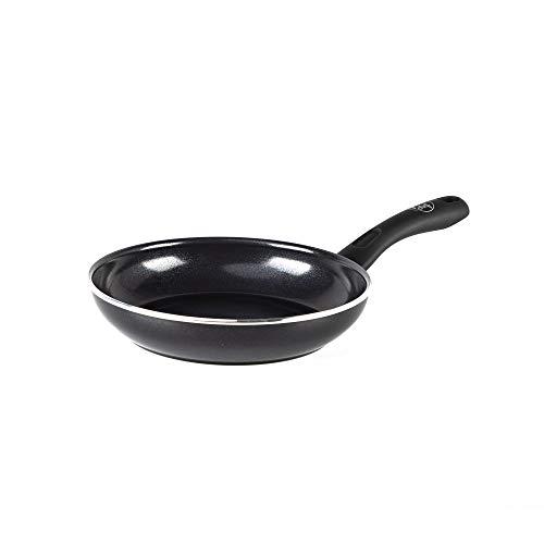 GreenChef Pfanne Bratpfanne Induktion Keramik Beschichtet, Toxinfreies Kochen, Ofen- und Spülmaschinengeeignet - 20 cm, Schwarz