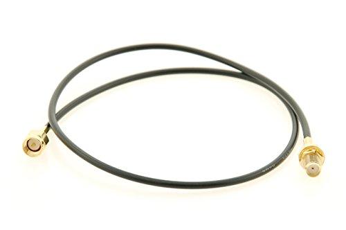 Alda PQ Antennen Anschlusskabel mit Einbaubuchse 50cm, RG174 für SMA/F auf SMA/M