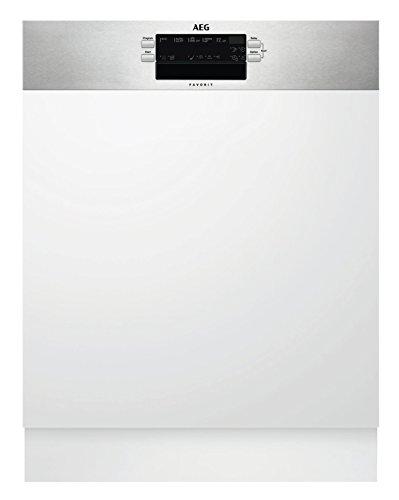 AEG FEB52600ZM Integrierter-Geschirrspüler / 60cm / AirDry - perfekte Trocknungsergebnisse / energiesparend / Besteckkorb / Glasprogramm / Beladungserkennung / Intensivprogramm / Kurzprogramm / Displa