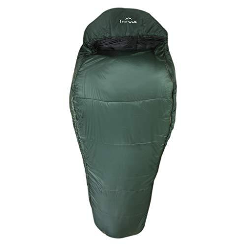Tripole Shivalik Minus Ten Degree Comfort Nylon Polyester Unisex Mummy Sleeping Bag (Army...