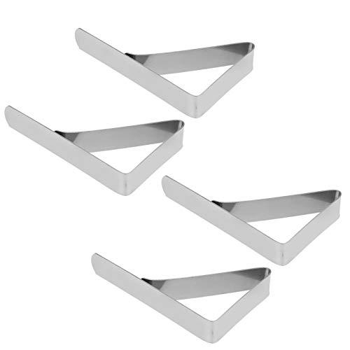 Clips de Mantel -4pcs Clips de Mantel de Acero Inoxidable a Prueba de Viento Abrazaderas de Cubierta de Mesa