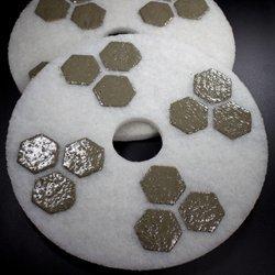 17 Inch Honeycomb Diamond Floor Polishing Pad 800 Grit
