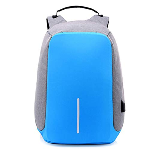 YHF Anti-theft Bag Men Laptop Rucksack Travel Backpack Women Large Capacity Business USB Charge College Student School Shoulder Bags,E