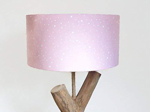 abat-jour rose ou gris étoiles Luminaire chambre fille personnalisée cylindre rond idée cadeau enfant princesse fée décoration naissance