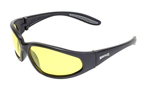 Gafas de sol irrompibles para poca luz para motocicleta, de invierno. Gafas envolventes para motorista y bolsa de microfibra
