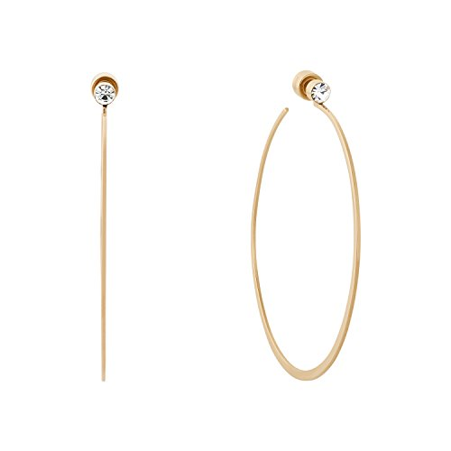 Michael Kors Gold Tone Modern Brilliance Hoop Earrings