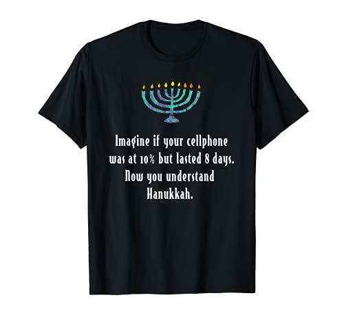 Funny Sarcastic Hanukkah Chanukah Cellphone Quote Gift Shirt T-Shirt