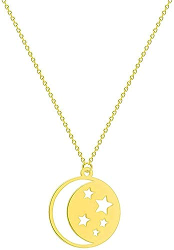 ZHIFUBA Co.,Ltd Necklace Stainless Steel Necklace for Women Crescent Necklace Sunflower Infinity Wolf Lion Dove Bird Love Pendant Necklace Jewelry Gift