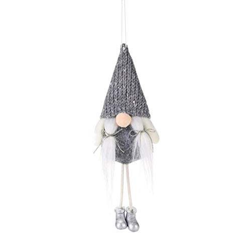Christm As Decorations Christmas Decoration Knitted Faceless Doll Pendant Creative Old Man Doll Home & Garden Home Decor