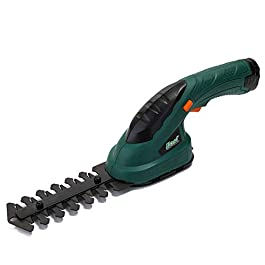 Baugger 3.6V 2-en-1 multifonctionnel sans fil tondeuse haie tondeuse électrique rechargeable tondeuse à gazon outils de…