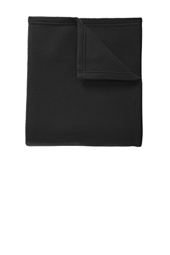Port Authority Core Fleece Blanket-One Size (Black)