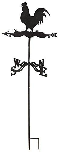 Esschert Design Wetterhahn aus Metall, 45,0 x 40,0 x 134,3 cm