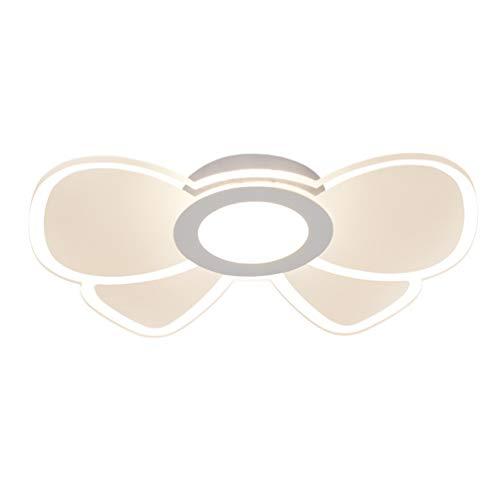 MiniSun Plafonnier moderne à LED 27 W à intensité variable pour enfant Éclairage intérieur contemporain Motif papillon et fleurs en acrylique Ø 45 cm Warmes Licht