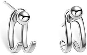 Stud Jacket Earrings 925 Sterling Silver Front Back Ear Cuffs Stud Earring for Women Girls product image