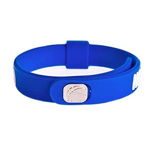 Xi-Link Silicona Brazalete Deporte del Baloncesto de Energía Pulsera de alimentación Ajustable Tamaño (Color : NBA)