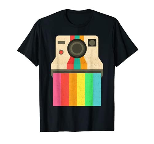 Fotógrafo Cámara Instantánea Fotografía Vintage Color Tee Camiseta