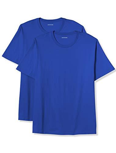 Amazon Essentials Men's Big \& Tall 2-Pack Short-Sleeve Crewneck T-Shirt fit by DXL, Blue, 5X