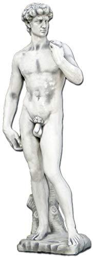 gartendekoparadies.de Wunderschöne Statue Abbild David von Michelangelo aus Steinguss, frostfest
