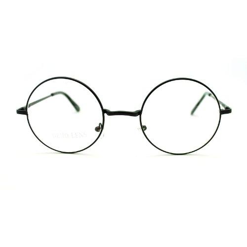 Mode-Brille im Hippie-Stil der 70er Jahre, Schwarz (schwarz), Einheitsgröße