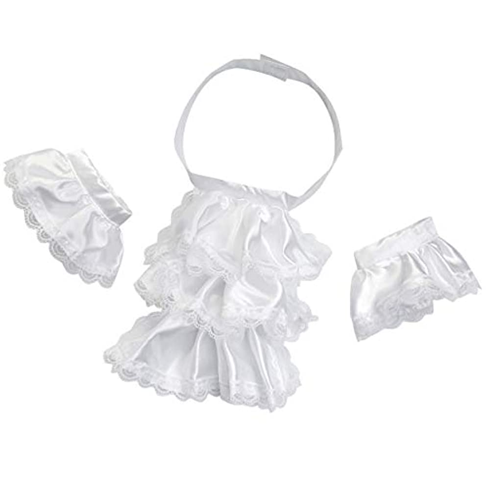 KOGOGO Colonial Unisex Lace Jabot Collar and Cuffs