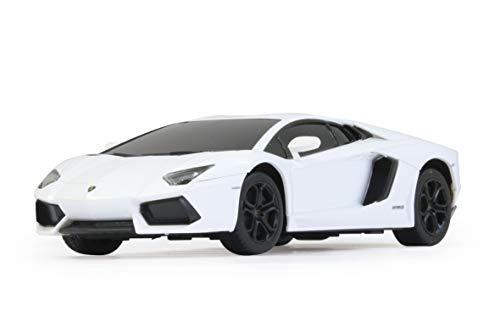 Jamara 404401 Auto Lamborghini Aventador 1:24 40MHz-offiziell lizenziert, 1 Stunde Fahrzeit bei ca. 9 Km/h, perfekt nachgebildete Details, hochwertige Verarbeitung, Weiss