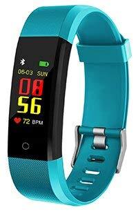 DCVFGB Reloj de Fitness Salud Podómetro Contador de Pasos Calculadora Exersize Calorías Letscom Walk Tracker Cinta de Correr Digital Reloj Pulsera Verde
