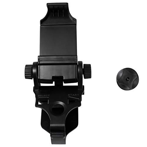 Hemobllo Clipes para jogos Suporte para gamepad preto para celular, suporte de celular de plástico para controle de jogos de telefone PS3 Gamepad