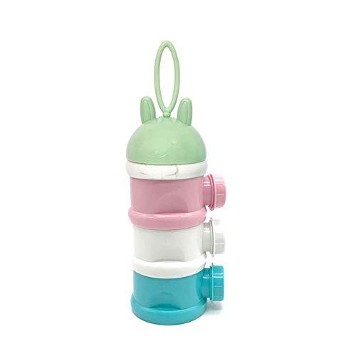 Felly 3 Schicht Milchpulver Portionierer, Formel Milchpulver Zufuhr Säuglingsnahrung Kasten für Reise im Freien/Nachtzeit Krankenpflege Tragbare Gestapelt Werden - kein Pulver Leckage(BPA-frei)
