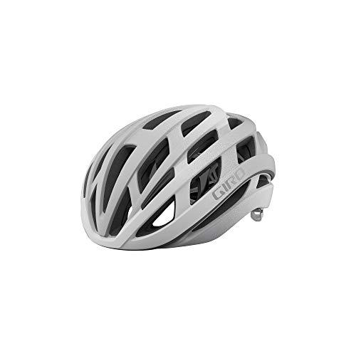 Giro Helios Spherical Adult Road Bike Helmet - Matte White/Silver Fade (2021), Large (59-63 cm)