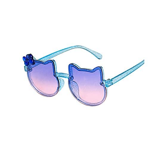 ZHEMAIE Gafas de Sol Nuevo Dibujos Animados encantadores niños Gafas de Sol Gafas de Gato Forma de Gato Chicas niños Gafas de Sol renovación Beat Beat Boy Boy Gafas (Lenses Color : C4)