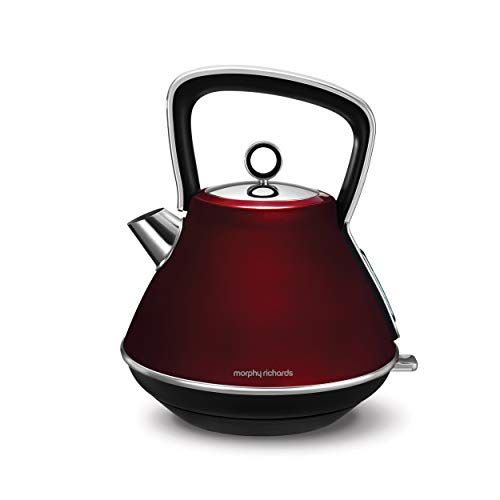 Morphy Richards Evoke Retro 1.5L 2200W Red Electric Kettle - Electric Kettles (1.5 L, Red, Lever, Manual, China, 2200 W)
