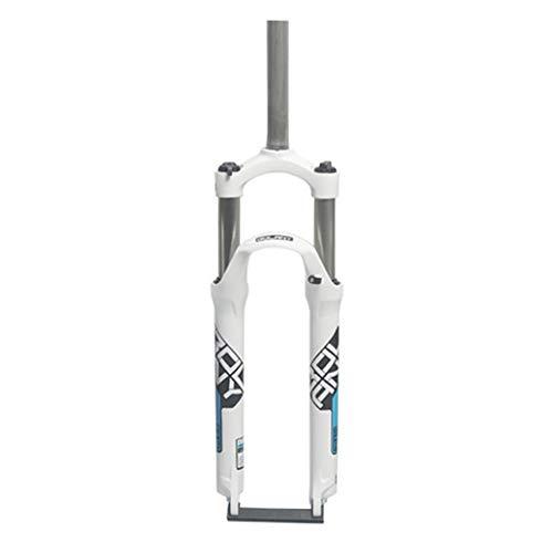 GYPING Spalla di Controllo (HL) Forcella Meccanica,Mountain Bike Forcella Anteriore Freno a Disco in Lega di Alluminio della Forcella della Sospensione 105 Millimetri di Viaggio,Blue-26inch