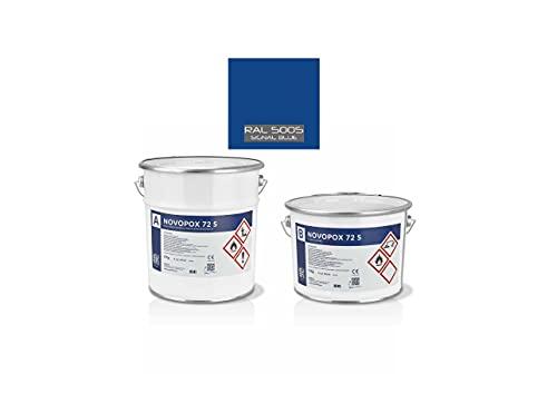 (RAL 5005) Novopox 72S 5,5 Kg Resina Bicomponente In Solvente Per Pavimenti In Cemento Colori A Scelta, Elevata Resistenza