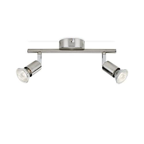 Philips Lighting Limbali, Lampada Faretti da Soffitto, 2 Punti Luce, Acciaio
