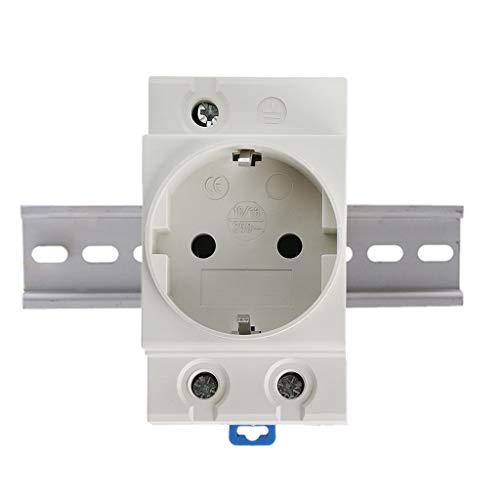 Enchufe de alimentación de CA tipo UE de 35 mm DIN, 16 A, 250 V, conector de CA