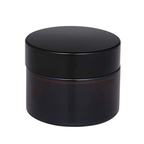 Walmeck 50ml Ambre Verre Pot de Soins de la Peau Crème Bouteille Rechargeable Cosmétique Outil de Maquillage de Conteneur Pour l'emballage de Voyage