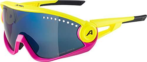 ALPINA Unisex- Erwachsene 5W1NG Sportbrille, pineapple-magenta matt, One Size