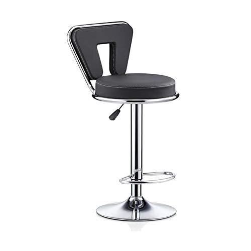 NAN liang Coussin de chaise de dossier de barre 8cm, tabouret industriel, charge maximum 120kg, chaises de réception réglables noires de taille