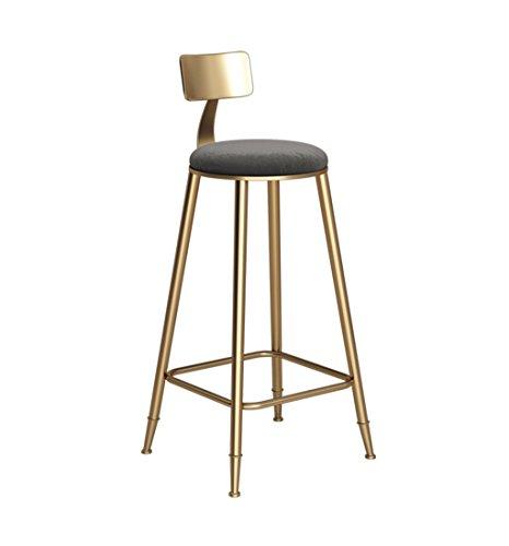 Iron Art Bar tabourets Vintage or chaise de comptoir cuisine petit déjeuner tabouret adapté à la famille et aux entreprises - 46 × 46 × 68cm (Couleur : Black)