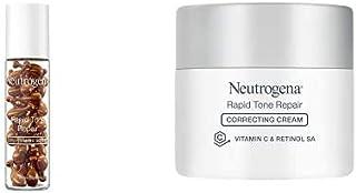 Neutrogena Rapid Tone Repair Correcting Cream, 1.7 Oz and Neutrogena Rapid Tone Repair 20% Vitamin C Serum, 30 Serum Capsules