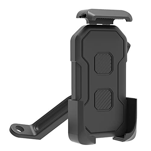 Soporte de teléfono para bicicleta o moto, antivibración, fácil de instalar, rotación de 360°, para smartphone de 4 a 6,5 pulgadas
