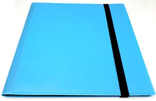 docsmagic.de Pro-Player 12-Pocket Playset Album Light Blue - 480 Card Binder - MTG - PKM - YGO - Álbum para Tarjetas Azul Claro