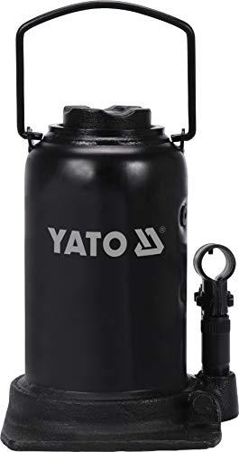 YATO Profi hydraulischer Stempelwagenheber 25t / 25000kg, Hubhöhe: 240 – 510 mm, stabile Ausführung, Flaschenheber Wagenheber Hydraulikheber