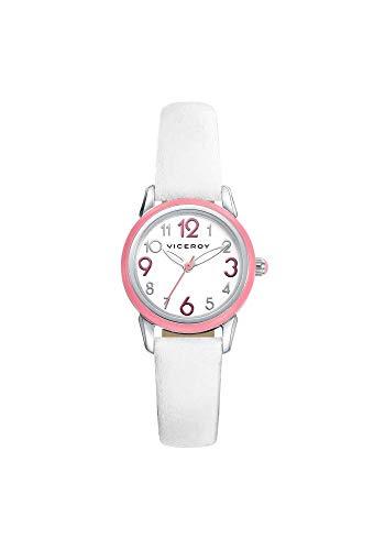 Viceroy 461054-05 - Reloj Cuarzo Niña correa de cuero blanco y Auriculares bluetooth