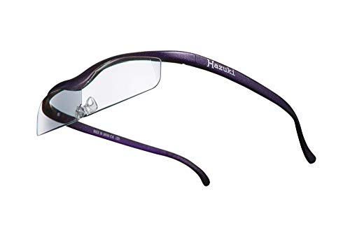 Hazuki ハズキルーペ 直営店 公式店 限定 倍率交換保証付き クール 1.6倍 クリアレンズ 紫 ハズキ 拡大鏡 ルーペ メガネ型 眼鏡型 めがね型 メガネ 眼鏡 めがね 日本製 MADE IN JAPAN ギフト パープル